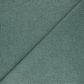 Tissu coton lavé Confettis - Vert x 10cm