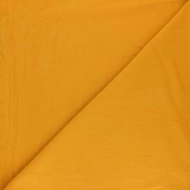 Tissu coton lavé uni Lali - Jaune moutarde x 10cm