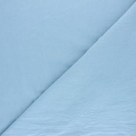 Tissu coton lavé uni Lali - Bleu ciel x 10cm