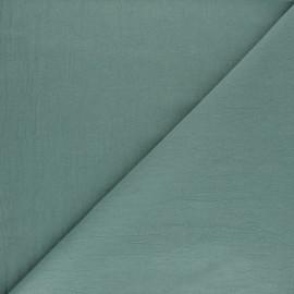 Tissu coton lavé uni Lali - Vert x 10cm