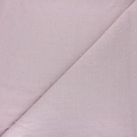 Tissu crépon de viscose plumetis - vieux rose x 10cm
