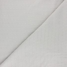 plumetis crinkle viscose Fabric - sand x10 cm