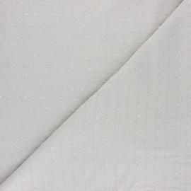 Tissu crépon de viscose plumetis - sable x 10cm