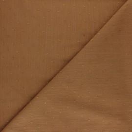 Tissu crépon de viscose plumetis - tabac x 10cm