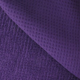 Honeycomb towel fabric - Purple x 10cm