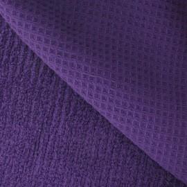 Tissu éponge nid d'abeille violet