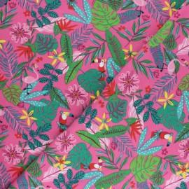 Printed Jersey fabric - fuchsia Tropicali x 10cm