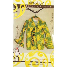 Flirt shirt sewing pattern for 2 to 7 years old, from Tina Givens - multicolored