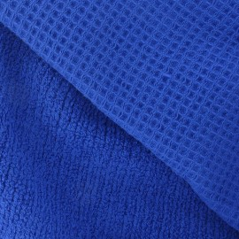Honeycomb towel fabric - Royal blue x 10cm