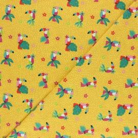 Printed Jersey fabric - yellow Nicolas le petit chevalier x 10cm
