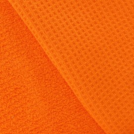 Honeycomb towel fabric - Orange x 10cm