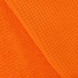 Tissu éponge nid d'abeille orange