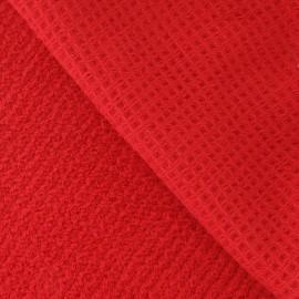 Tissu éponge nid d'abeille rouge