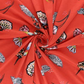 Viscose Jersey Fabric - orange Hiina x 10 cm