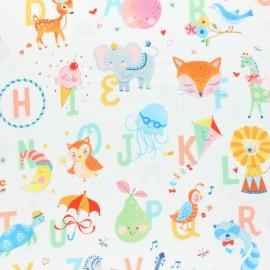 Tissu coton Blend fabrics Storytime Alphabet - blanc x 10cm