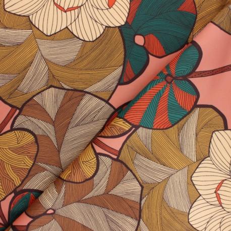 Tissu velours ras Idris - vieux rose x 50cm
