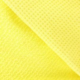 Tissu éponge nid d'abeille citronade