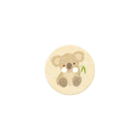 Recycled Cotton Button - Light yellow Petit Koala