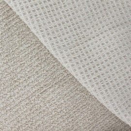Honeycomb towel fabric - beige x 10cm
