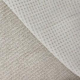 Tissu éponge nid d'abeille beige