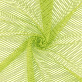 Tissu filet Vrac - Vert anis x 10cm