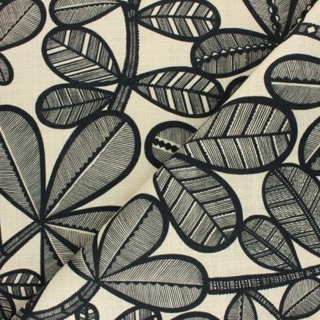 Tissu toile viscose lin Fao - vanille x 50cm