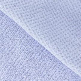 Tissu éponge nid d'abeille parme
