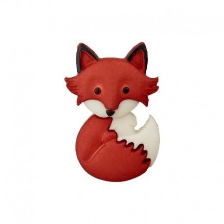 Child Button - Sitting Little Fox