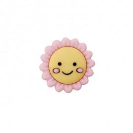 Child Button - Happy Flower