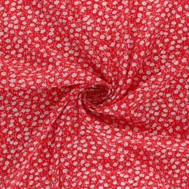 Tissu rayonne Primavera - rouge x 10cm