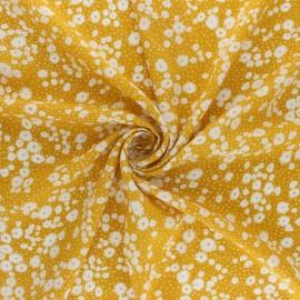 Tissu rayonne Verano - jaune moutarde x 10cm