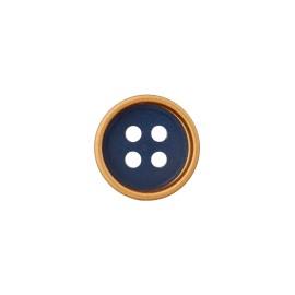 Metal Fiore button - silver