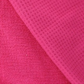 Honeycomb towel fabric - Fuchsia x 10cm
