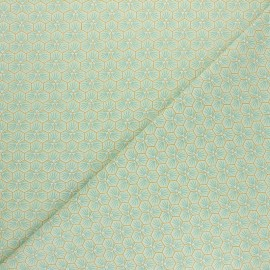 Cretonne cotton fabric - light green Riad x 10cm