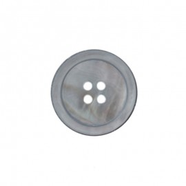 Natural Mother-of-Pearl Button - grey Halio
