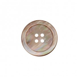 Natural Mother-of-Pearl Button - pink beige Halio