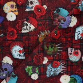 Tissu velours ras Punky - rouge x 10cm