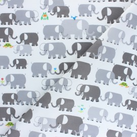 Tissu coton Cloud 9 - Ed Emberley Favorites - Elephants x 10 cm