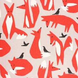 Cloud 9 woven cotton fabric - Wildlife Foxes x 10 cm