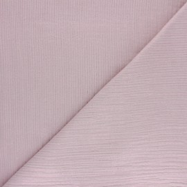 Lurex stripe double cotton gauze fabric - old pink x 10cm