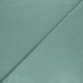 Tissu double gaze de coton rayure lurex - Eucalyptus x 10cm