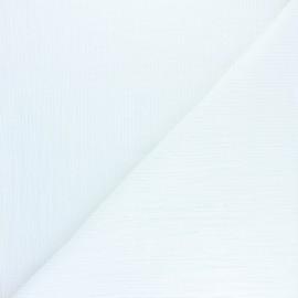 Tissu double gaze de coton rayure lurex - Écru x 10cm