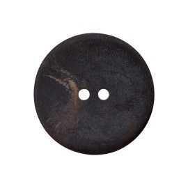 Polyester button - black tortoiseshell
