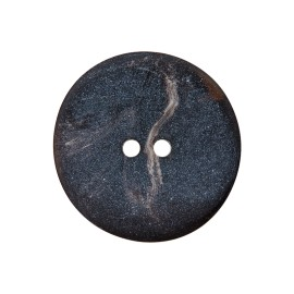 Polyester button - chocolate Basalte