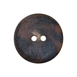 Bouton polyester rond Basalte - chocolat