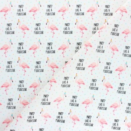Cotton Camelot Fabrics Very Punny - Party Like a Flockstar  x 10cm