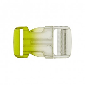 Boucle Sac à dos 30mm - transparent/vert