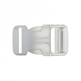 Boucle Sac à dos 30mm - transparent/rose