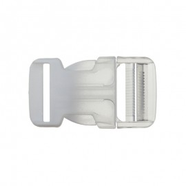 Side Release Buckle - Transparent/pink