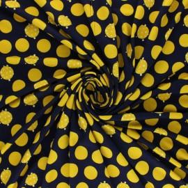Viscose Jersey Fabric - black Lunares x 10 cm